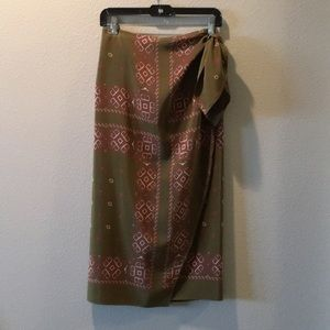 DKNY Silk Sarong Skirt